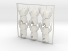 Tabletop Figures 6 Pack in White Natural Versatile Plastic