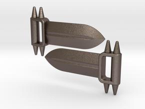 BashBlade Set for ModiBot  in Polished Bronzed Silver Steel
