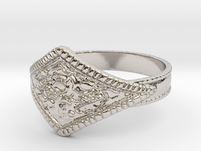 Ring of Favor in Rhodium Plated Brass: 10 / 61.5