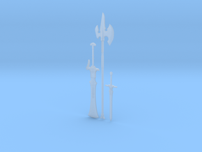 """""""BotW"""" Knight's Weapons Set in Smooth Fine Detail Plastic: 1:12"""