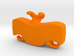 Ladder Chain Lock 1 in Orange Processed Versatile Plastic: Medium