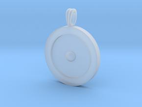 Circumpunct Dot Circle symbolic Jewelry Pendant in Smooth Fine Detail Plastic