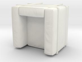 Miniature LC2 Poltrona Chair - Le Corbusier in White Natural Versatile Plastic: 1:12