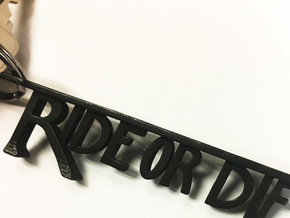 Ride Or Die Bottle Opener in Polished and Bronzed Black Steel