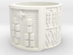 IROSODI Ring Size 13.5 in White Processed Versatile Plastic