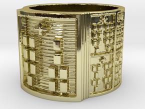 IROSOKANA Ring Size 14 in 18k Gold Plated Brass