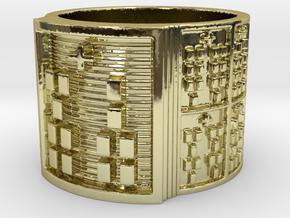 IROSOKA Ring Size 14 in 18k Gold Plated Brass