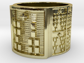 IROSOBATRUPON Ring Size 14 in 18k Gold Plated Brass