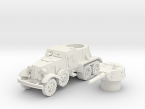 BA 36 with tracks (Soviet) 1/87 in White Natural Versatile Plastic