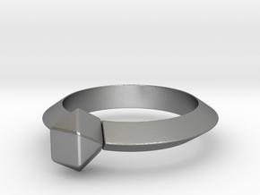 Kurtis - Ring in Natural Silver: 6 / 51.5