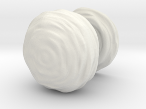 Mushroom Cloud 5cm in White Natural Versatile Plastic
