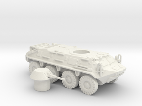 BTR- 60 vehicle (Russian) 1/87 in White Natural Versatile Plastic