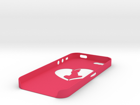 IPhone 5s Lovers case in Pink Processed Versatile Plastic