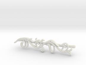 Filigree Bobby Pin in White Natural Versatile Plastic