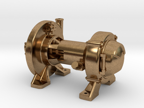 """Pyle """"E"""" Type Steam Turbo Generator in Natural Brass"""