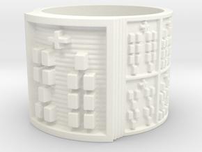 OBARATRUPON Ring Size 13.5 in White Processed Versatile Plastic