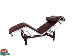 Miniature LC4 Chaise Lounge - Le Corbusier in White Natural Versatile Plastic