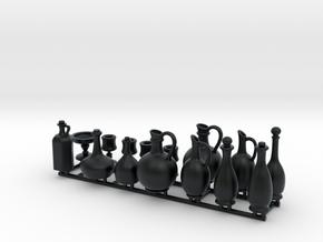 Bottle Cup Set 3 in Black Hi-Def Acrylate