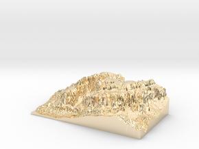 """MyTinyDolomites """"Gruppo Sella"""" - Dolomites South M in 14K Yellow Gold"""