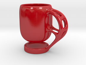 Levitate - Coffee Cup in Gloss Red Porcelain