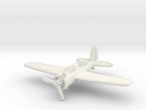 Brewster SBA scout bomber 1/285 6mm in White Natural Versatile Plastic