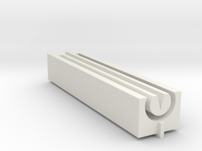 Hop Window Guide/Jig for Smooth Barrels (H8R) in White Natural Versatile Plastic