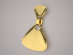 Triple Cube Gold 074 in 14K Yellow Gold