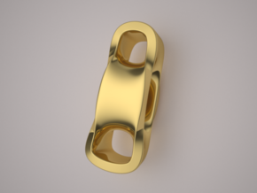 Triple Cube Gold 099 in 14K Yellow Gold
