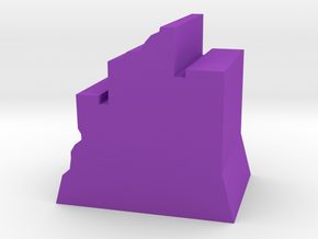 Game Piece, Ruined Fortress in Purple Processed Versatile Plastic