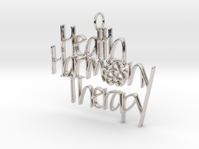 Health Harmony Therapy Logo in Rhodium Plated