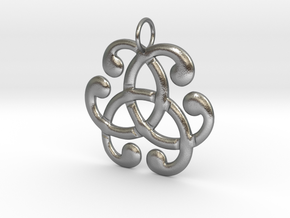 Health Harmony Therapy Celtic Knot in Natural Silver: Medium