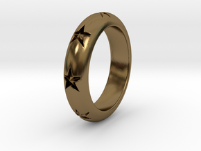 Ring Of Stars 14.1mm Size 3 in Polished Bronze