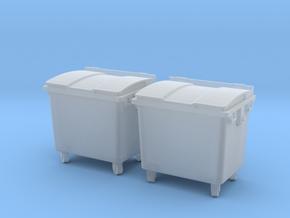 TJ-H01126x2 - Poubelles 4 roues in Smooth Fine Detail Plastic