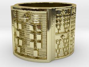 OKANAFUN Ring Size 13.5 in 18k Gold Plated Brass