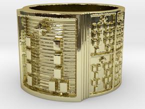 OGGUNDABIODDE Ring Size 14 in 18k Gold Plated Brass