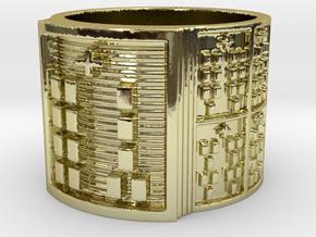 OGUNDAYEKUN Size 13.5 in 18k Gold Plated Brass
