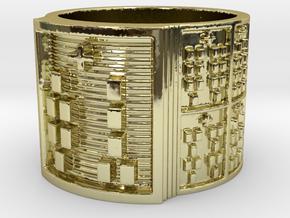 OGUNDAODI Ring Size 14 in 18k Gold Plated Brass