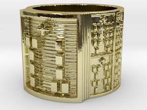 OGUNDAMASA Ring Size 11-13 in 18k Gold Plated Brass: 12 / 66.5