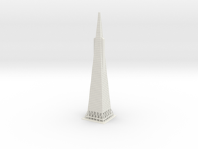 "15"" Transamerica Pyramid in White Strong & Flexible"