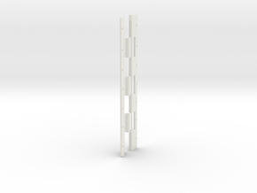 Gauntlet Right Hinge 7.25 Inch Long in White Natural Versatile Plastic