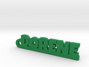 DORENE Keychain Lucky in Green Processed Versatile Plastic