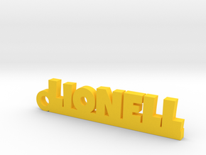 LIONELL Keychain Lucky in Yellow Processed Versatile Plastic