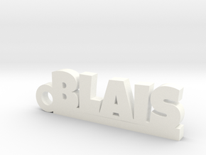 BLAIS Keychain Lucky in White Processed Versatile Plastic