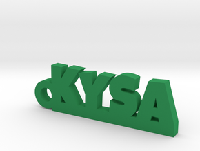 KYSA Keychain Lucky in Green Strong & Flexible Polished