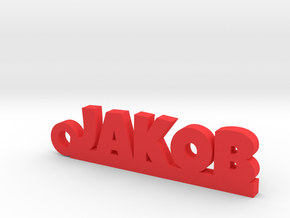 JAKOB Keychain Lucky in Red Processed Versatile Plastic