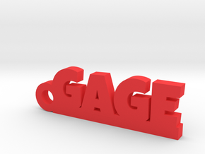 GAGE Keychain Lucky in Red Strong & Flexible Polished