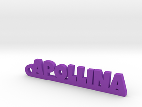 APOLLINA Keychain Lucky in Purple Strong & Flexible Polished