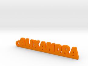 ALIXANDRA Keychain Lucky in Natural Brass