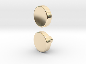 Spinner button in 14K Yellow Gold