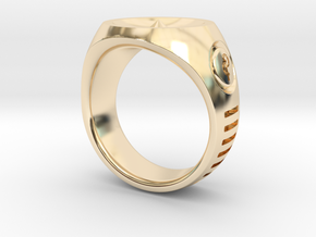 LMNTL Water Ring (size 12) in 14k Gold Plated Brass